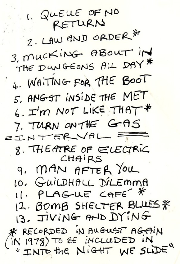 Radio Rats Live at The Market Theatre, Johannesburg, 18 June 1978